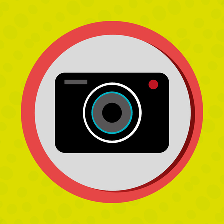 oncept: Business internet online ecommerce buy camera isolated, vector illustration