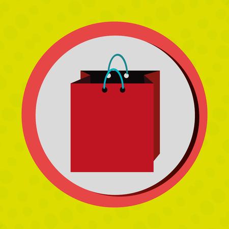 oncept: Business internet online ecommerce buy bag isolated, vector illustration