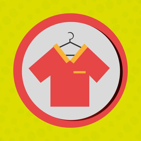 oncept: Business internet online ecommerce buy shirt isolated, vector illustration Illustration