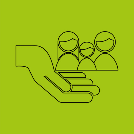 ensure: ensure protection insurance risk people isolated, vector illustration