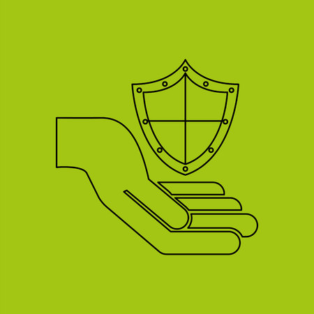 ensure: ensure protection insurance risk isolated, vector illustration