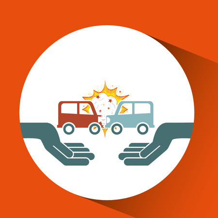 ensure: ensure protection insurance risk car isolated, vector illustration