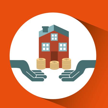 garantizar la protección de la casa aislada riesgo de seguro, ilustración vectorial