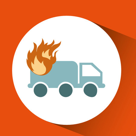 insured: ensure protection insurance risk truck isolated, vector illustration