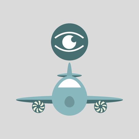 ensure: ensure protection insurance risk airplane isolated, vector illustration Illustration