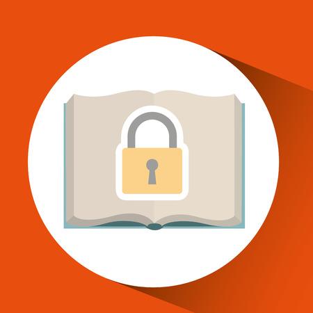 ensure protection insurance risk education isolated, vector illustration Illustration