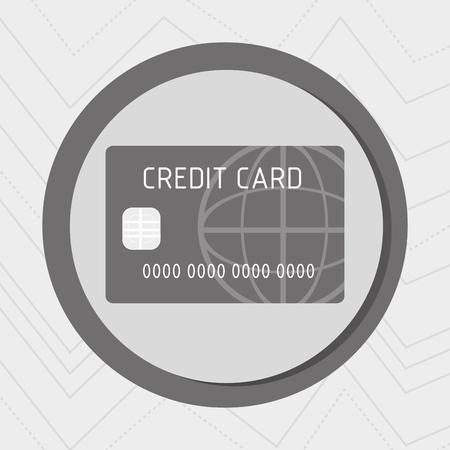 oncept: Business internet online ecommerce buy credit card isolated, vector illustration Illustration