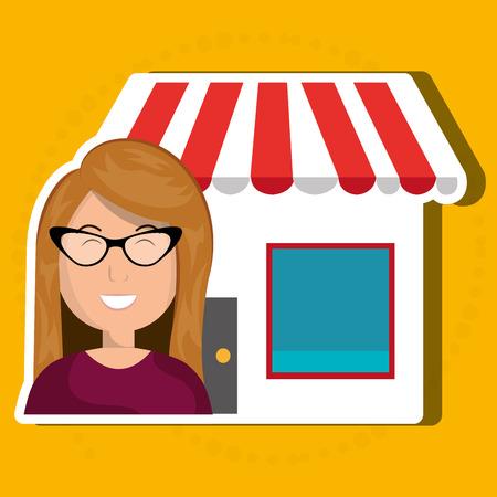 oncept: Business internet online ecommerce buy isolated, vector illustration Illustration