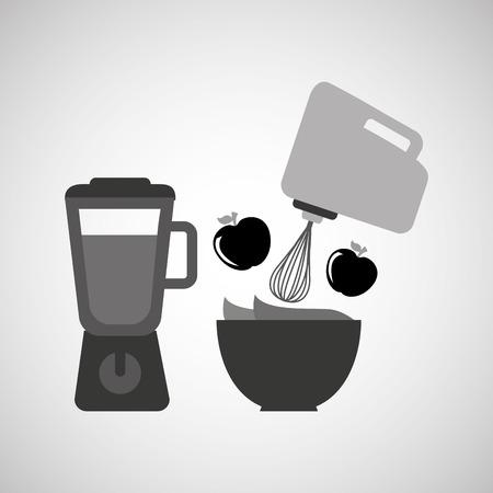 utensilios de cocina: utensilios de cocina utensilios de cocina y alimentos aislados, ilustración vectorial Vectores