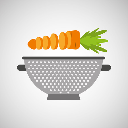 kitchen tools food Cookware isolated, vector illustration Illustration