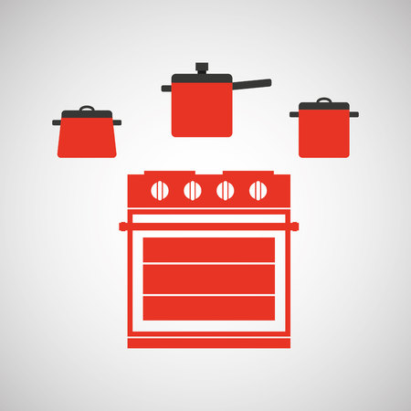 cookware: kitchen tools food Cookware isolated, vector illustration Illustration
