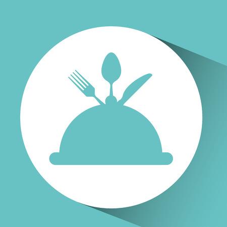 utensilios de cocina: utensilios de cocina utensilios de cocina alimentos cloche aislado, ilustraci�n vectorial