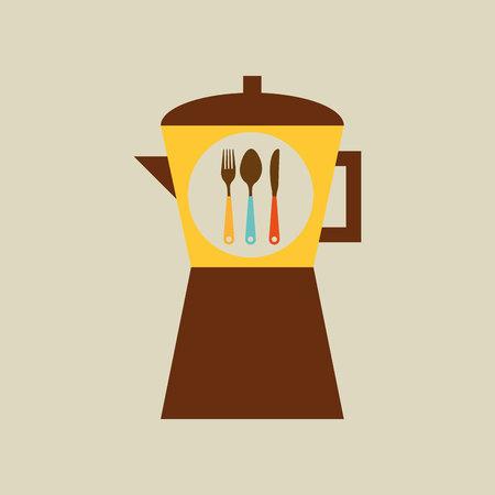 utensilios de cocina: utensilios de cocina utensilios de cocina y alimentos aislados, ilustraci�n vectorial Vectores