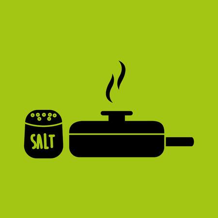 kitchen tools food Cookware isolated, vector illustration Illustration