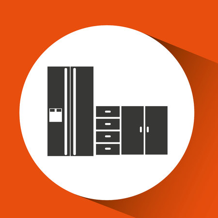cookware: utensilios de cocina utensilios de cocina y alimentos aislados, ilustración vectorial Vectores