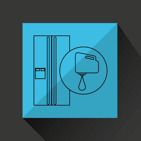 utensilios de cocina: utensilios de cocina utensilios de cocina alimentos frigor�fico aislado, ilustraci�n vectorial Vectores