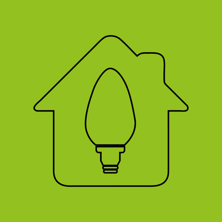 nature protection: ecology eco nature protection bulb home house isolated, vector illustration Illustration