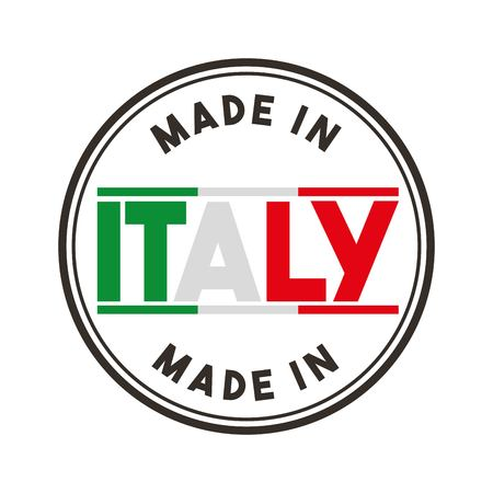 italy culture: Italy culture concept represented by flag and seal stamp icon. Isolated and flat illustration.