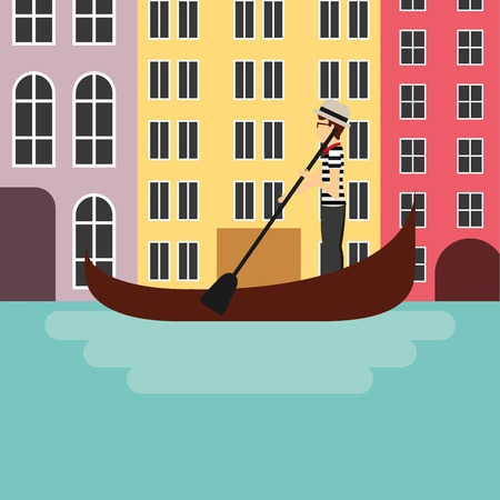 italian culture: Italy culture concept represented by City of Venecia icon. Colorfull and flat illustration.