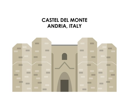 italy culture: Italy culture concept represented by castel de monte icon. Isolated and flat illustration. Illustration