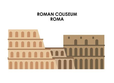 italy culture: Italy culture concept represented by roman coliseum icon. Isolated and flat illustration.