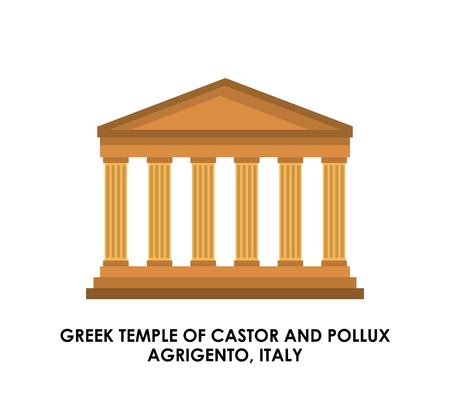 italy culture: Italy culture concept represented by greek temple icon. Isolated and flat illustration. Illustration