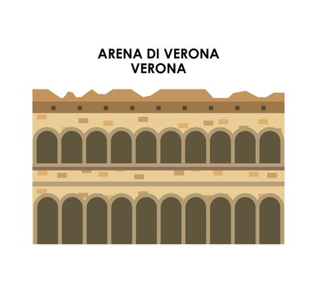 arena: Italy culture concept represented by arena di verona icon. Isolated and flat illustration. Illustration
