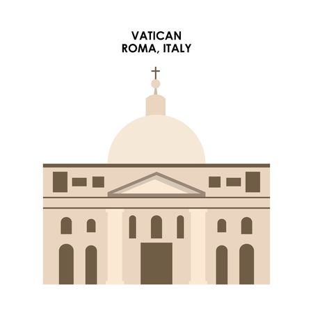 italy culture: Italy culture concept represented by Vatican icon. Isolated and flat illustration.