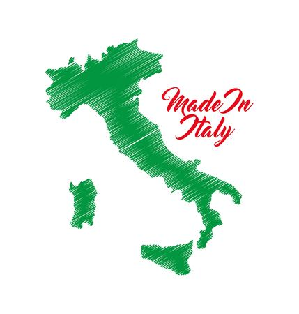 italy culture: Italy culture concept represented by map icon. Isolated and flat illustration. Illustration