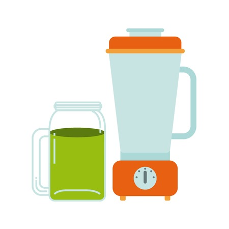 cleanse: Organic food concept represented by detox and blender icon. Colorfull and flat illustration.