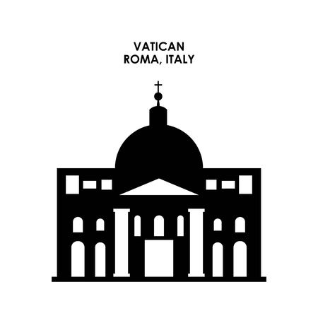 italy culture: Italy culture concept represented by vatican icon. Isolated and flat illustration. Illustration