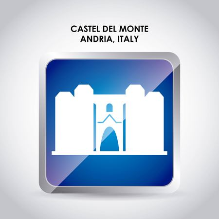 italy culture: Italy culture concept represented by castel del monte icon. Colorfull and flat illustration.