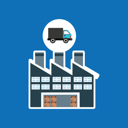 herbolaria: transportation delivery service box warehouse isolated, vector illustration Vectores