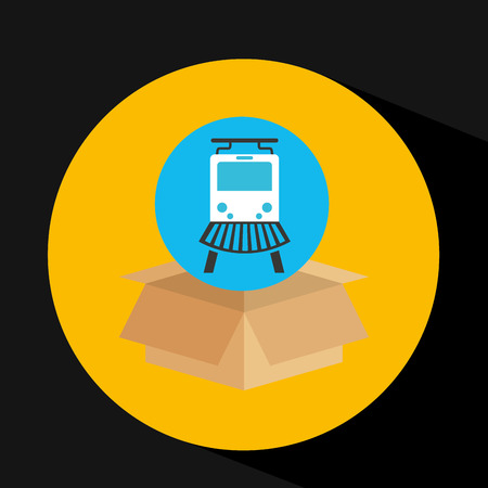 transportation delivery service box warehouse isolated, vector illustration Illustration