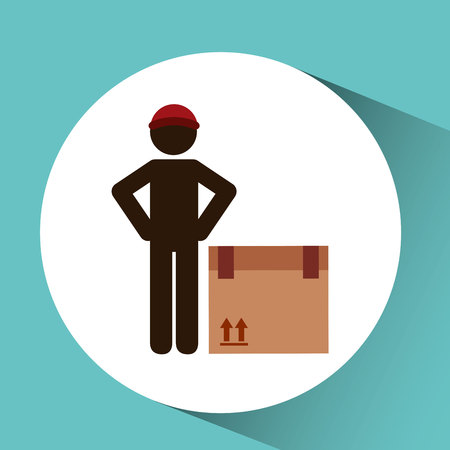delivering: transportation delivery package isolated, vector illustration eps10