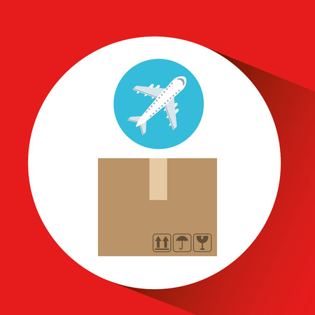 delivery package: transportation delivery package isolated, vector illustration eps10