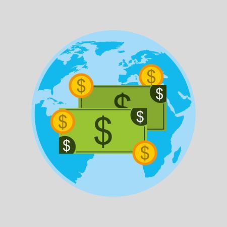 capital gains: finance money economy dollar business isolated, vector illustration