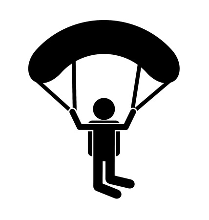 parachute sport isolated icon design, vector illustration  graphic