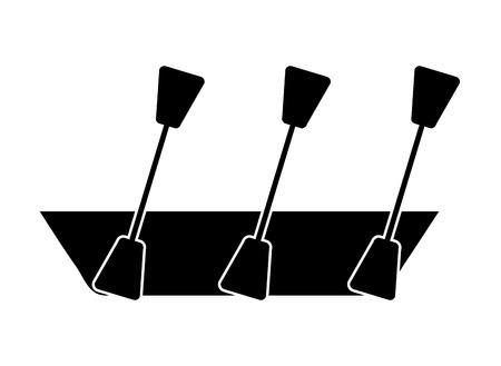 kayak isolated icon design, vector illustration  graphic Illustration