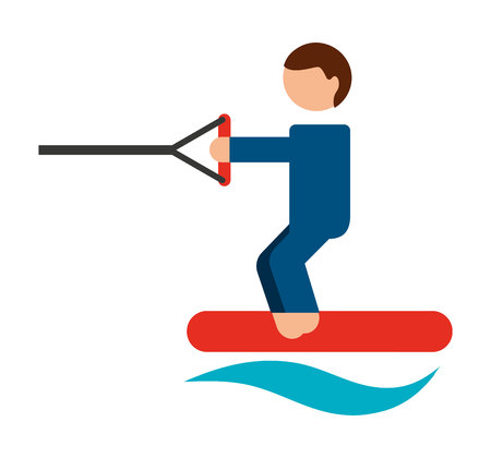 ski water isolated icon design, vector illustration  graphic Illustration