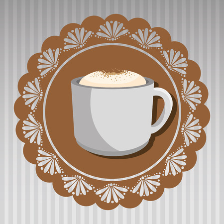 casual business meeting: cup of coffee isolated icon design, vector illustration  graphic
