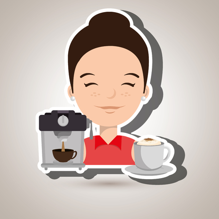 casual business meeting: people and coffee icon design, vector illustration graphic