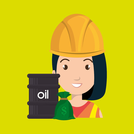 futures: persons with barrel petroleo isolated icon design, vector illustration  graphic