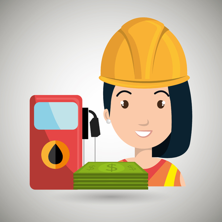 woman and oil isolated icon design, vector illustration  graphic Ilustrace