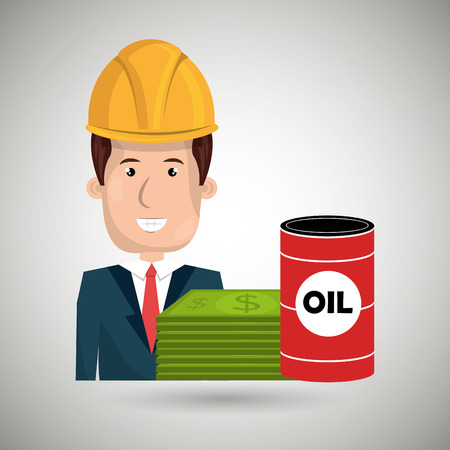 futures: man and oil  isolated icon design, vector illustration  graphic