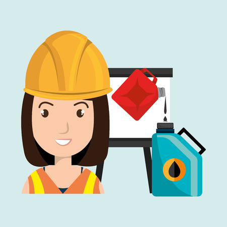 futures: woman with oil isolated icon design, vector illustration  graphic Illustration