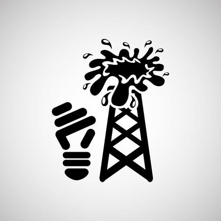 green light bulb: green light bulb concept with petrol, vector illustration