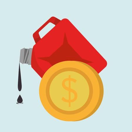 gallon: gallon gasoline isolated icon design, vector illustration graphic Illustration