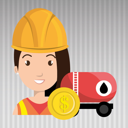 oil worker: oil worker person isolated icon design, vector illustration  graphic
