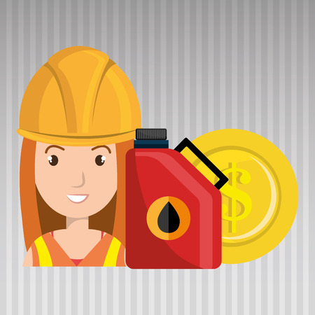 futures: oil worker person isolated icon design, vector illustration  graphic